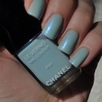 Chanel Riva with CND Ice Blue Shimmer