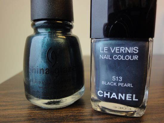 Chanel Black Pearl and China Glaze Emerald Fitzgerald