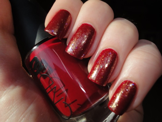 CND Bloodline w/ Chanel Illusion D'or