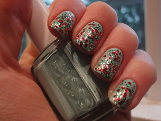 China Glaze Party Hearty over Essie Mint Candy Apple