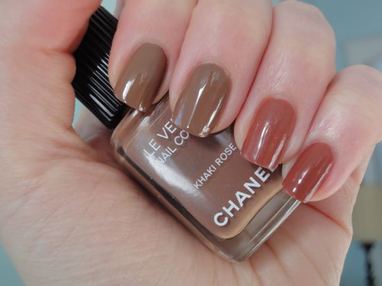 Chanel Khaki Rose and CND Chocolate Milk