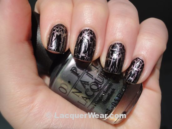 OPI Not Like the Movies w/ Black Shatter