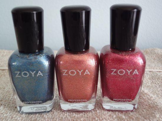 Crystal, Tiffany and Gloria - Zoya Flame Collection
