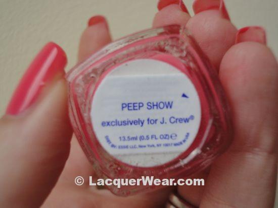 Essie Peep Show, label