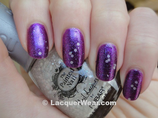 The Painted Nail Legendary Lavender with Moon Drop Top Coat