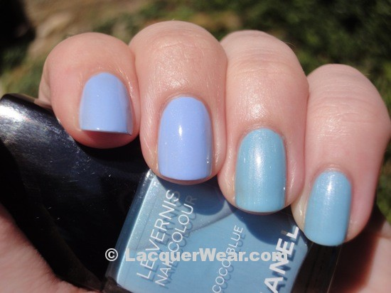 Essie Bikini So Teeny, Chanel Coco Blue