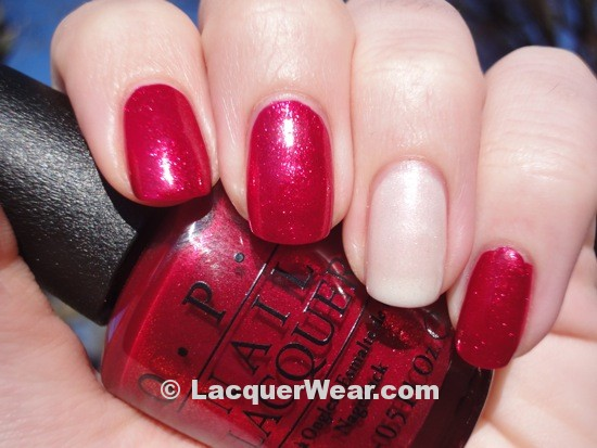 OPI You Only Live Twice w: Dior Icy Dew