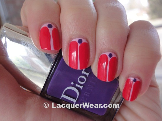 Essie French Affair, Dior Lucky and Ultra Violet